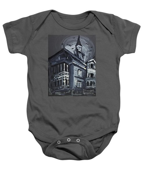 Scary Old House Baby Onesie