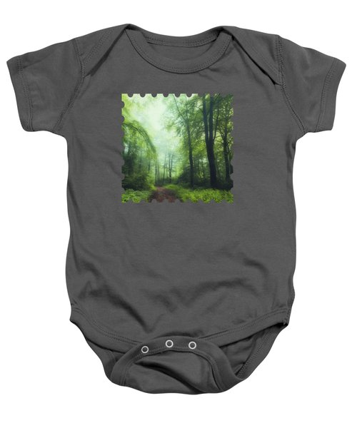 Scent Of Summer In The Forest Baby Onesie