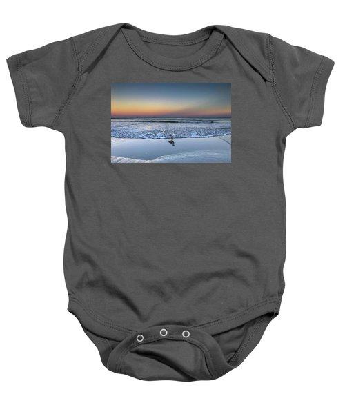 Seagull On The Beach Baby Onesie