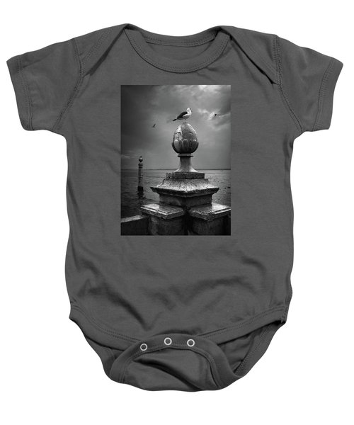 Seagulls Of The Tagus Baby Onesie