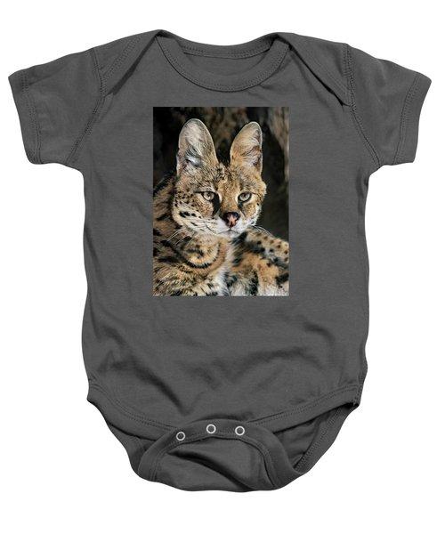 Serval Portrait Wildlife Rescue Baby Onesie