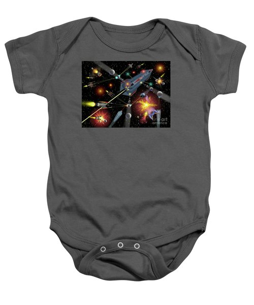 Sferogyls Space Battle Group Baby Onesie