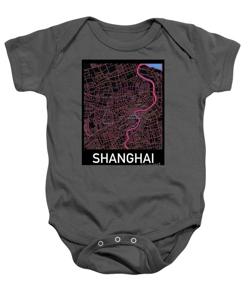 Shanghai City Map Baby Onesie