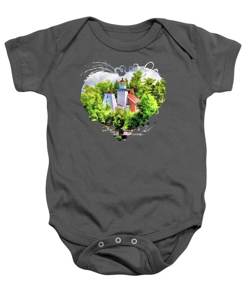 Sherwood Point Lighthouse In Door County Baby Onesie