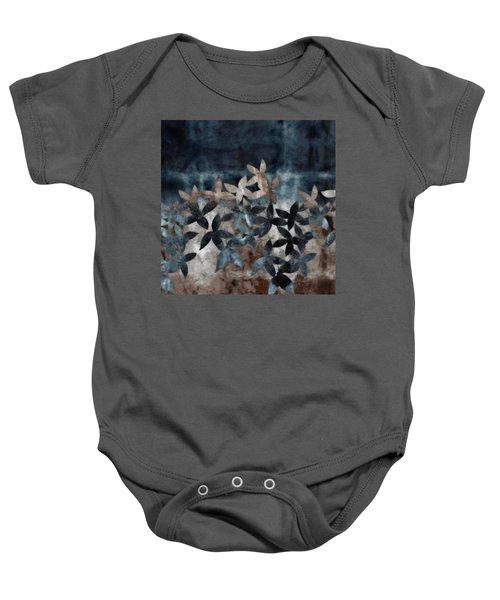 Shibori Leaves Indigo Print Baby Onesie