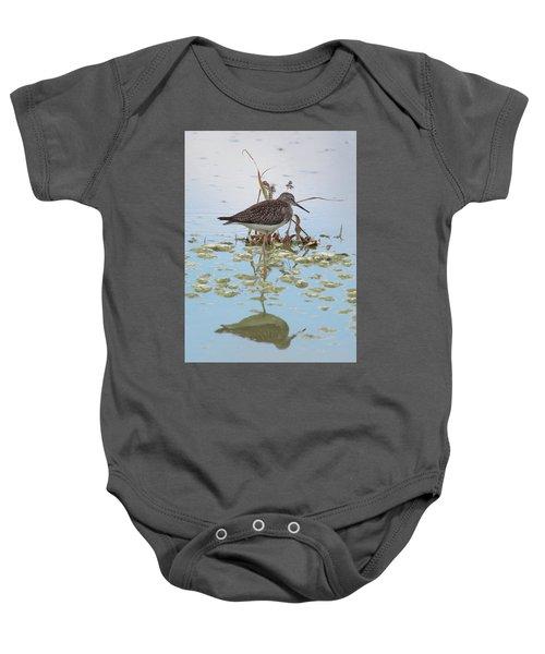 Shorebird Reflection Baby Onesie