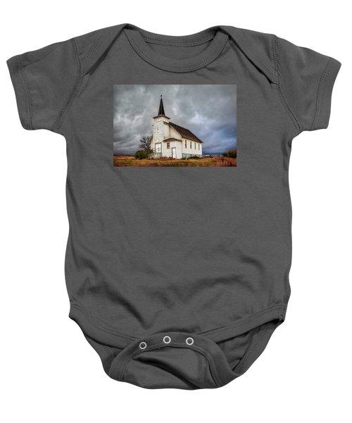 Shuttered Church In Cartwright North Dakota Baby Onesie