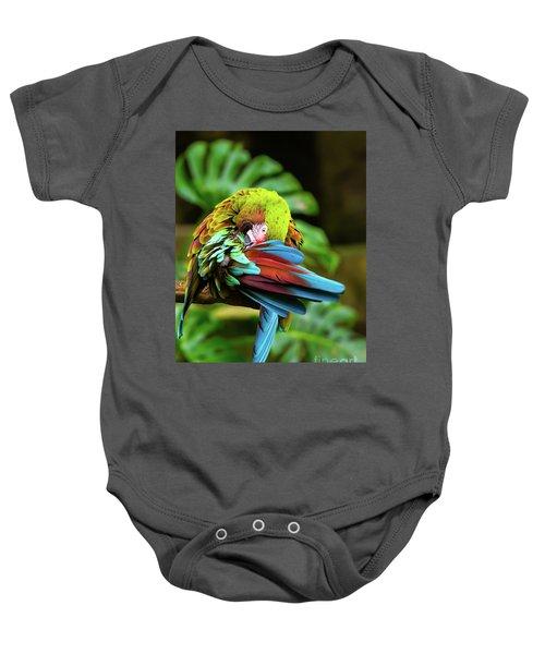 Shy Parrot Baby Onesie