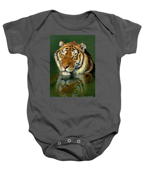 Siberian Tiger Reflection Wildlife Rescue Baby Onesie