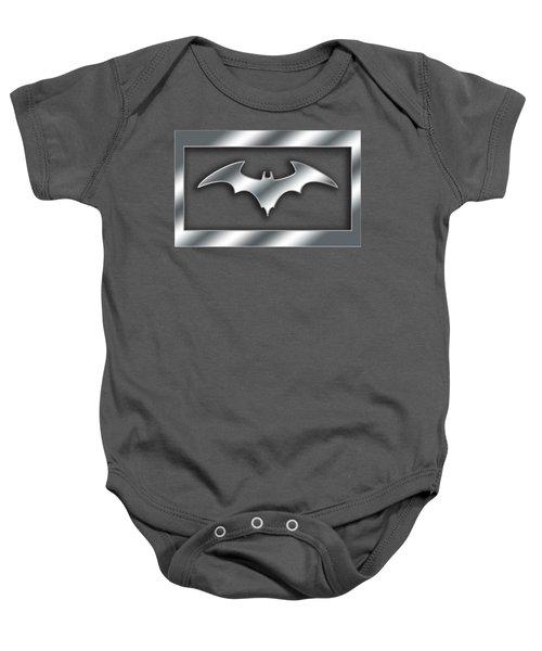 Silver Bat Transparent Baby Onesie