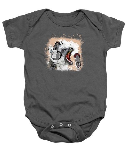 Singing Lemur Comic Art Baby Onesie