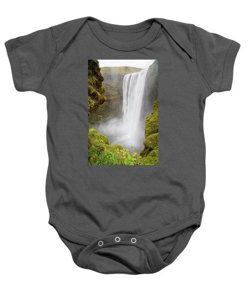 Skogafoss Iceland Baby Onesie