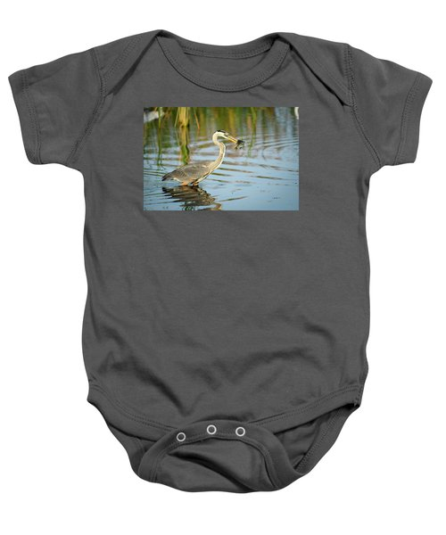 Snack Time For Blue Heron Baby Onesie