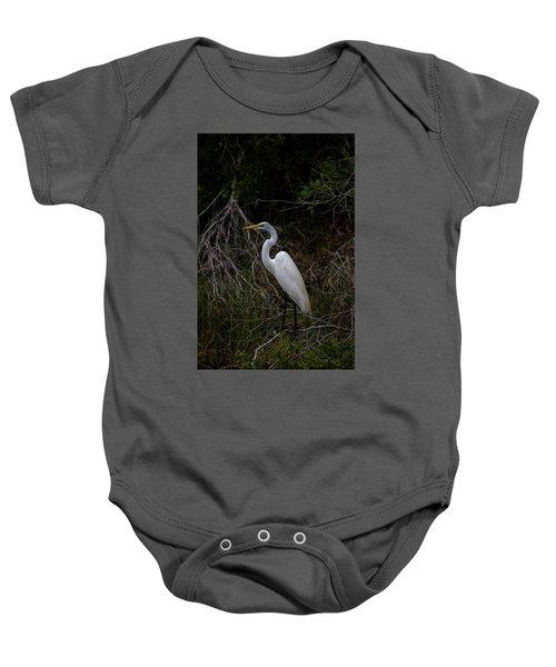 Snowy Egret On A Hot Summer Day Baby Onesie