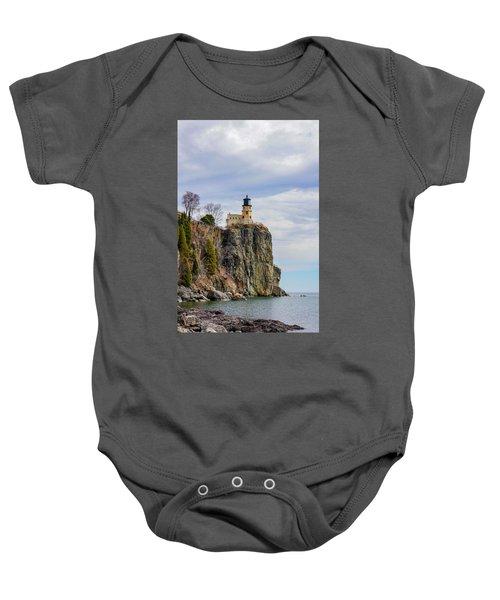 Split Rock Lighthouse Portrait Baby Onesie