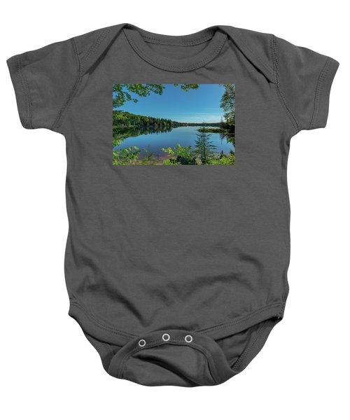 Spring Morning On Grand Sable Lake Baby Onesie