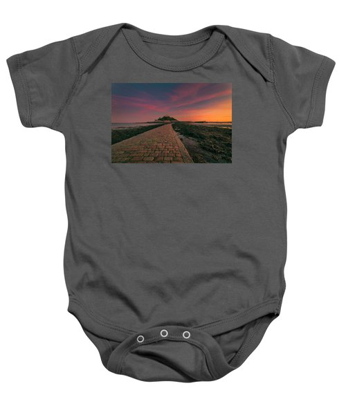 St Michael's Mount Sunset Baby Onesie