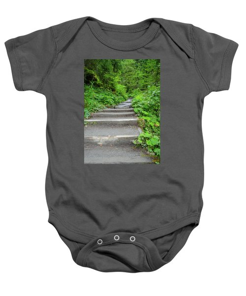Stairs To The Woods Baby Onesie