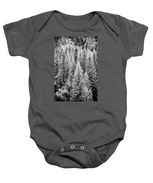 Standing Tall In The French Alps Baby Onesie