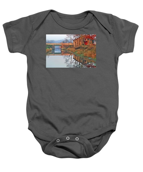 Still Waters On The Canal Baby Onesie