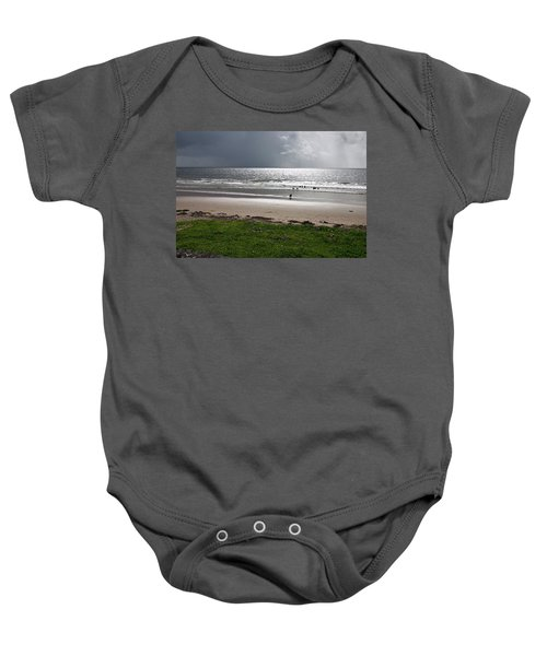 Storm Brewing Over The Sea Baby Onesie