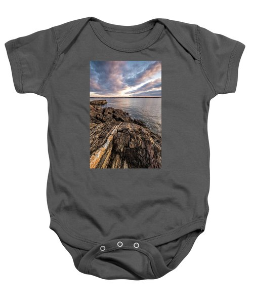 Striations. Leading Lines In The Rocks Baby Onesie