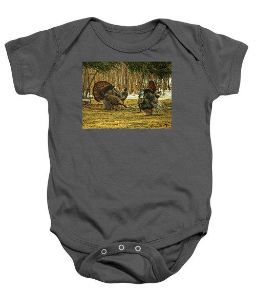 Strutters And Hens Baby Onesie