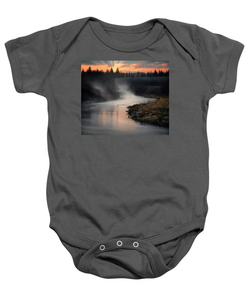 Sturgeon River Morning Baby Onesie