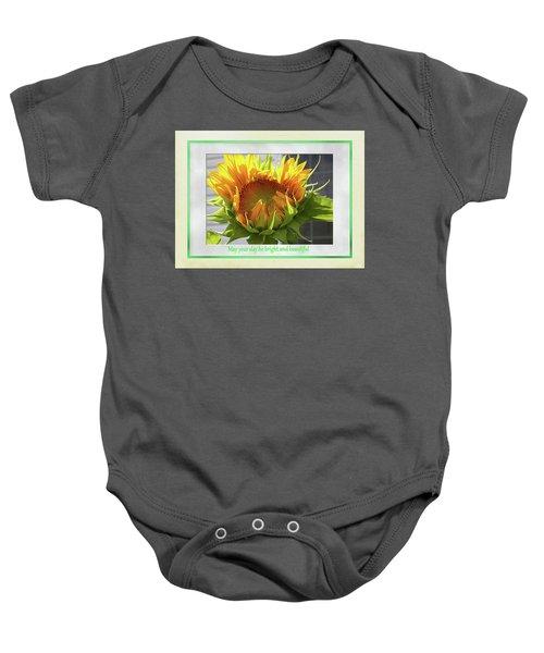 Sunflower Birthday Baby Onesie