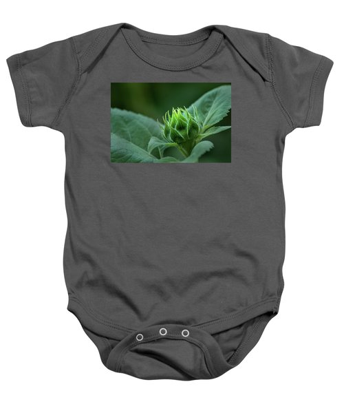 Sunflower Bud Baby Onesie