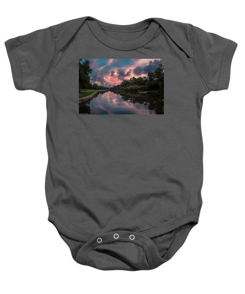 Sunrise On The River Baby Onesie