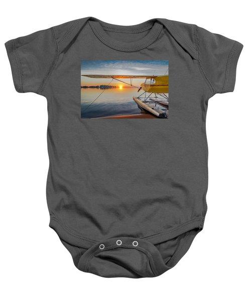 Sunrise Seaplane Baby Onesie