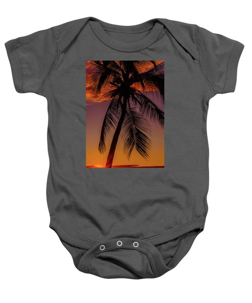 Sunset At The Palm Baby Onesie