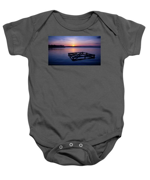 Sunset At The Reservoir  Baby Onesie