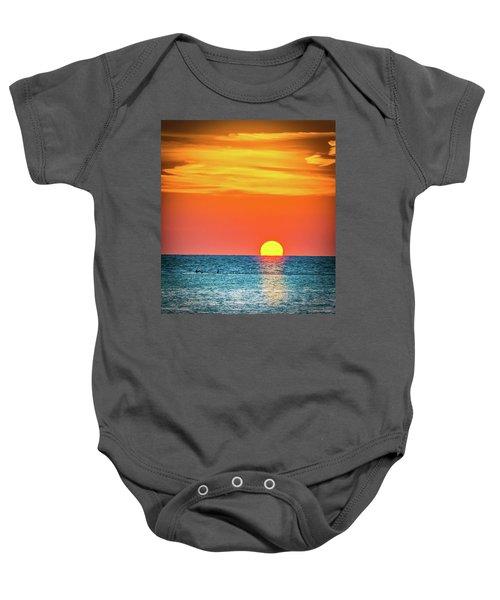 Sunset Captiva  Baby Onesie