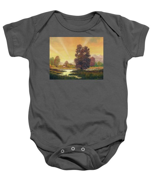 Sunset Color Baby Onesie