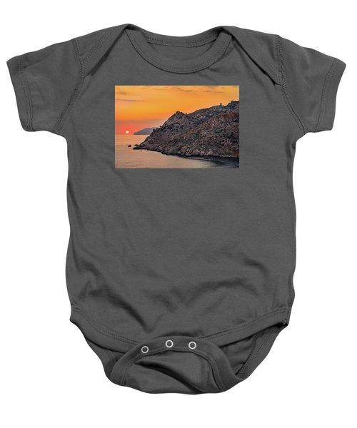 Sunset Near Cape Tainaron Baby Onesie