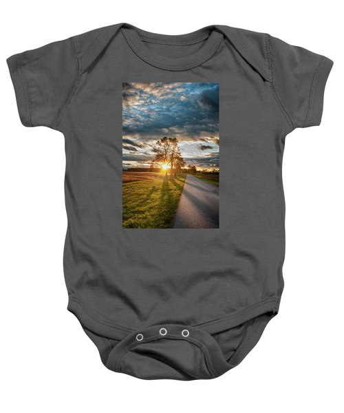 Sunset On The Field Baby Onesie