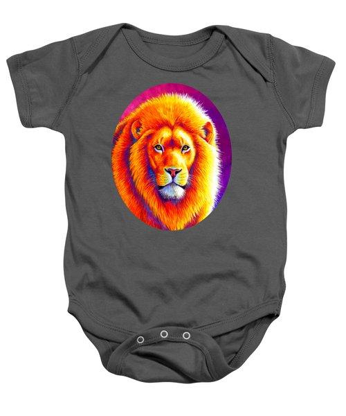 Sunset On The Savanna - African Lion Baby Onesie