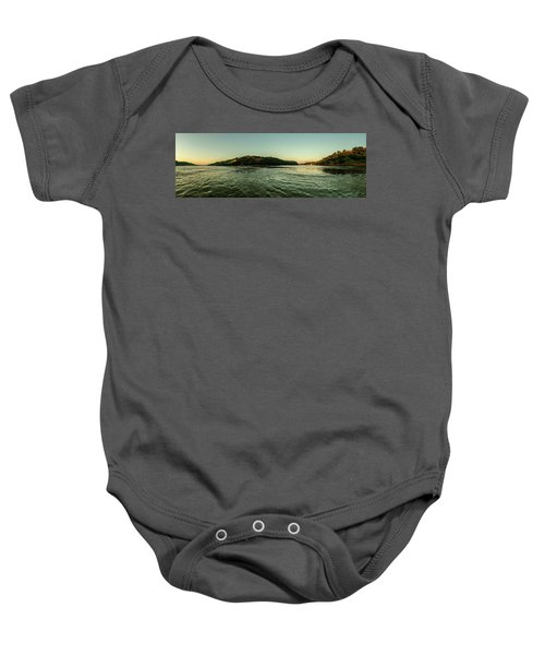 Sunset River Confluence Baby Onesie