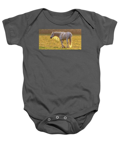 Baby Onesie featuring the photograph Sunset With The Old Guy by Mary Hone