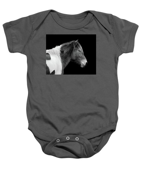Susi Sole Portrait In Black And White Baby Onesie