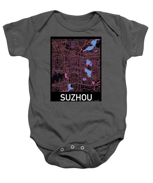 Suzhou City Map Baby Onesie