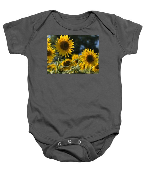 Sweet Sunflowers Baby Onesie