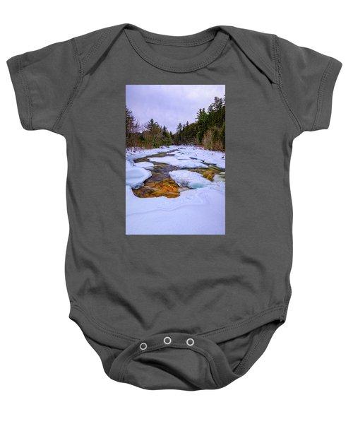 Swift River Winter  Baby Onesie
