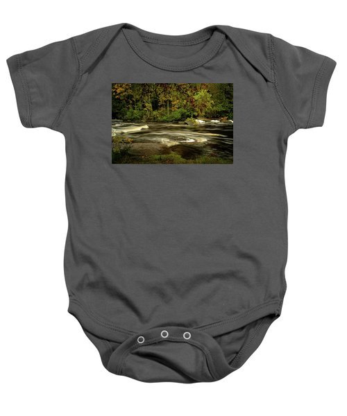 Swirling River Baby Onesie