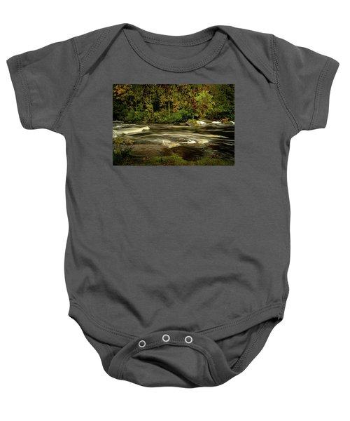 Swirling River Baby Onesie