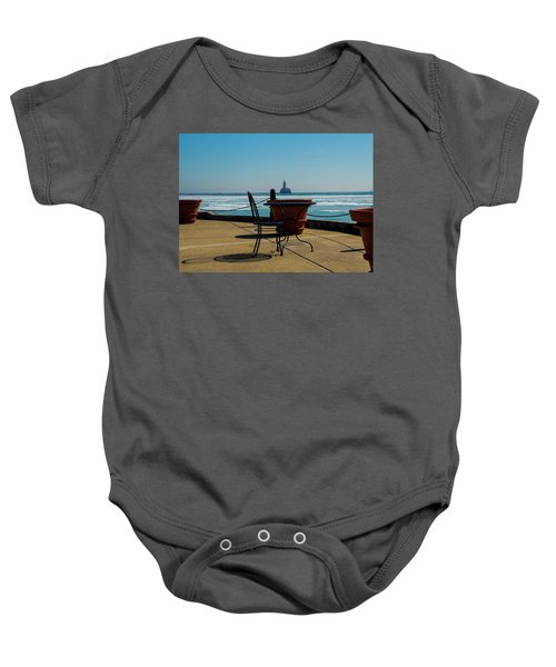 Table For One Baby Onesie