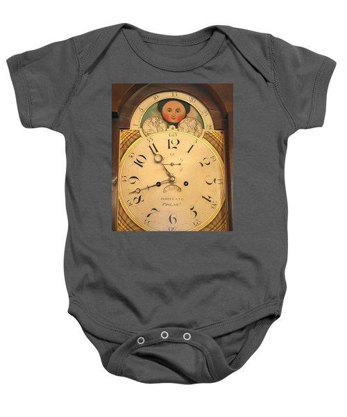 Tall Case Clock Face, Around 1816 Baby Onesie