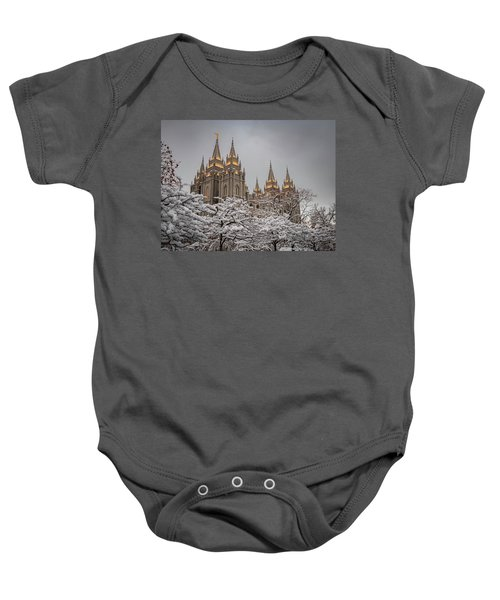 Temple In The Snow Baby Onesie